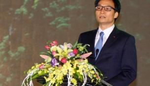 Phó Thủ tướng Vũ Đức Đam phát biểu tại buổi lễ.